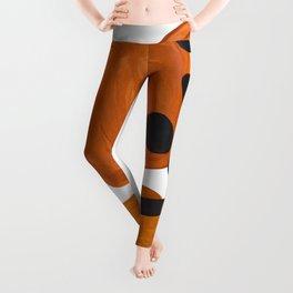 Mid Century Vintage 70's Design Abstract Minimalist Colorful Pop Art Leggings