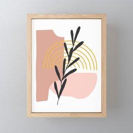 Rainbow Abstract Framed Mini Art Print