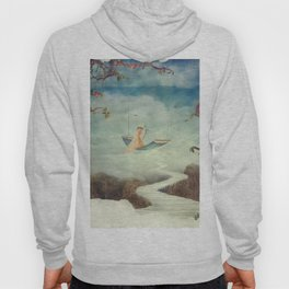 Little girl on the swing in the  fantastic country in sky  Hoody