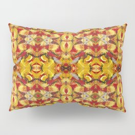 Abstract Red Gold Pillow Sham