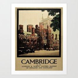 retro Cambridge Art Print