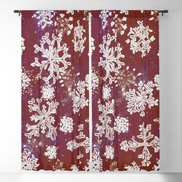 Christmas snowflakes RED-special edition 2018 Blackout Curtain