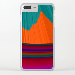Paint Me a Mountain Clear iPhone Case