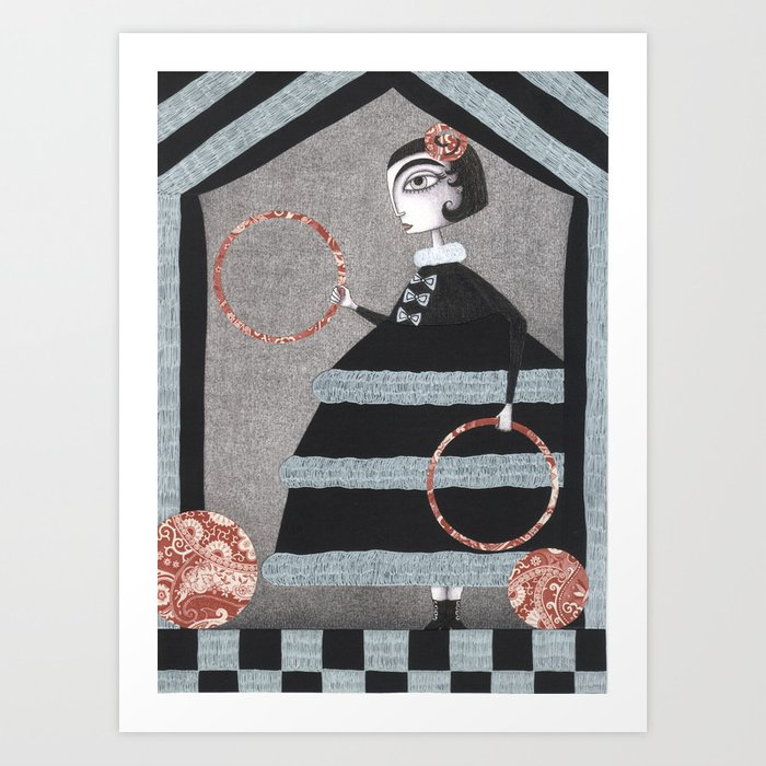 The Red Rings Art Print