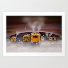 Napiers in the Mist Art Print