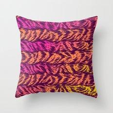 Fur Stripes Throw Pillow