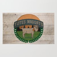 totes Area & Throw Rugs featuring Totes Magoats by LaurenPyles