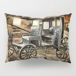 Vintage Horse Drawn Carriage Pillow Sham