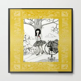 Snow White and The Hunter Metal Print
