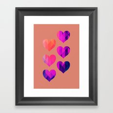 Six hearts 08 Framed Art Print