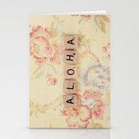 aloha Stationery Cards featuring Aloha by Christine Hall