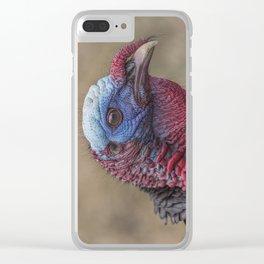 Turkey Time Portrait Clear iPhone Case
