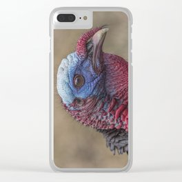 Turkey Time Portrait Clear iPhone Case