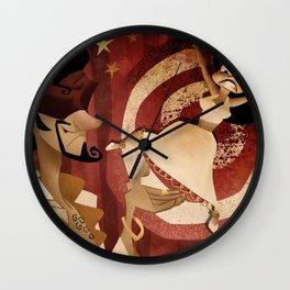 knife thrower Wall Clock