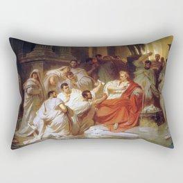 Karl Theodor von Piloty - Murder of Caesar Rectangular Pillow