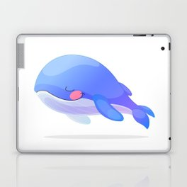 Cute whale. Vector graphic character Laptop & iPad Skin