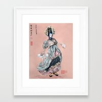 kenzo Framed Art Prints featuring Kenzo inspired  by Leychenko