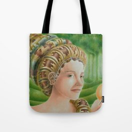 """Portrait in the forest"" (notebook) Tote Bag"