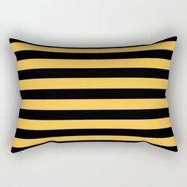 Yellow and Black Bumblebee Stripes Rectangular Pillow