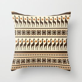 Giraffe Safari Throw Pillow