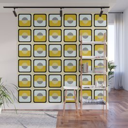 Horizons Geometric Pattern - Summer Sun Gold Wall Mural