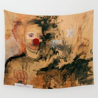 clown Wall Tapestries featuring Friggen Clown by Chad Beroth