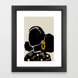 Black Hair No. 4 Framed Art Print