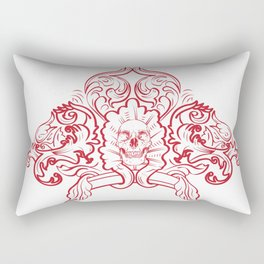 Ornate Skull Rectangular Pillow