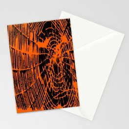 Intricate Halloween Spider Web Orange and Black Palette Stationery Cards