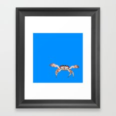 Lonely Crab - Blue Framed Art Print