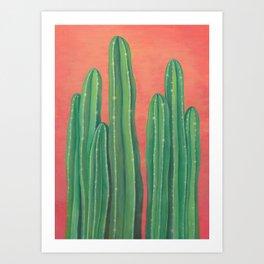 Dreaming cactus Art Print