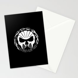 Skull Head Three Stationery Cards