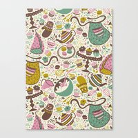 cupcakes Canvas Prints featuring Cupcakes  by Anna Deegan