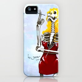 Tv Skull iPhone Case