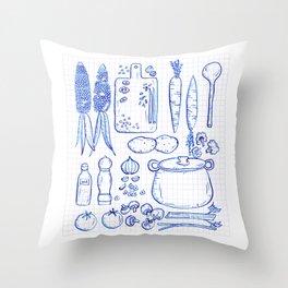 Vegetable Soup Throw Pillow