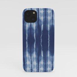 Blue shibori scratched iPhone Case