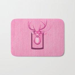 The Pink Deer Head Graphic Bath Mat