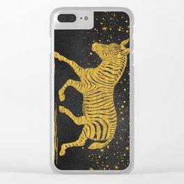 The golden Zebra Clear iPhone Case