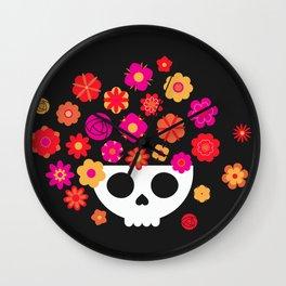 Skull Bowl Wall Clock
