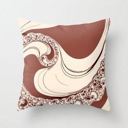 Mocha Spiral Throw Pillow