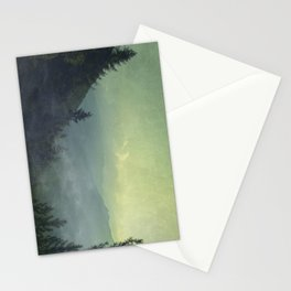 Mist over valley - view of Valmalenco / Italy Stationery Cards