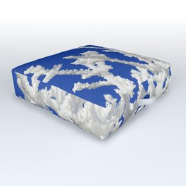 Frosty branches Outdoor Floor Cushion