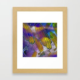 Watercolor textured pattern. Bananas. Framed Art Print