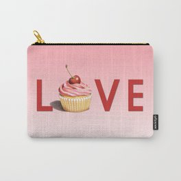 Pink Cupcake LOVE Carry-All Pouch