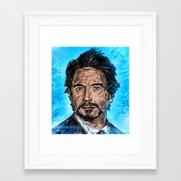 robert downey jr Framed Art Prints featuring RD JR by Balazs Pakozdi