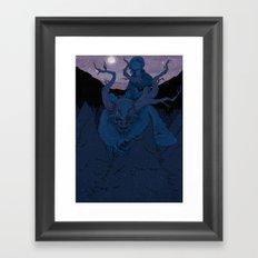 Past The Pine Framed Art Print