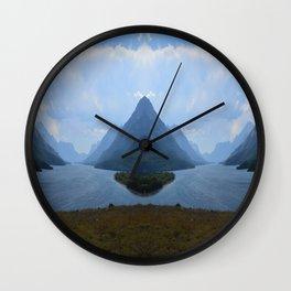 Mirrored Landscape Wall Clock