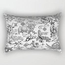 ZODIAC CANVAS CALLIGRAPHY Rectangular Pillow