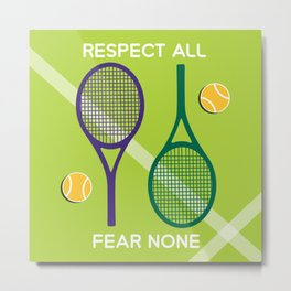 Love tennis - fresh green Metal Print