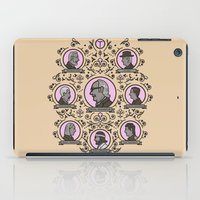 royal tenenbaums iPad Cases featuring The Royal Tenenbaums and friends by M. Gulin